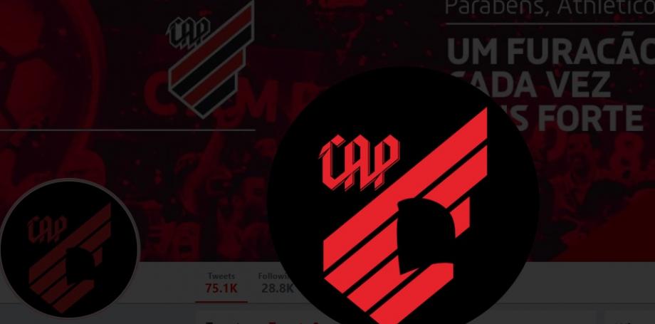 O escudo do Athletico no Twitter