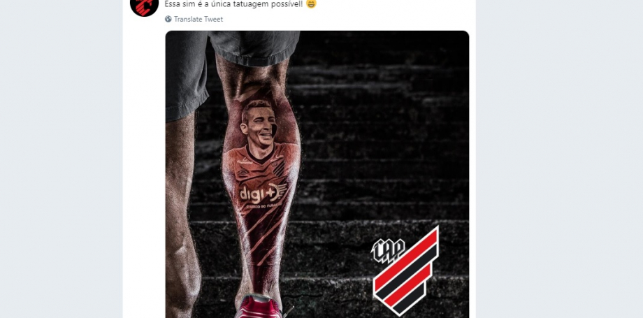 Homenagem do Athletico a Marco Ruben