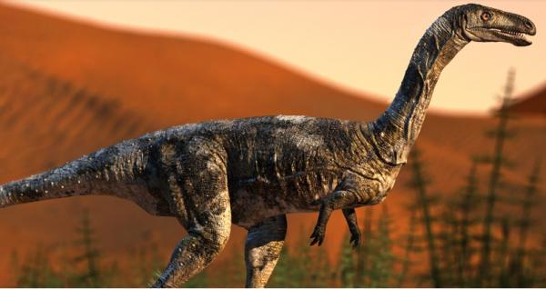 Imagem do dinossauro de Cruzeiro do Sul