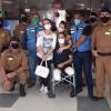 Policial Kaseker recebe apoio de amigos