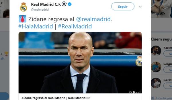 Zidane é anunciado pelo Real Madrid