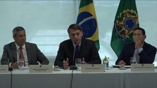 Bolsonaro: divulgação de vídeo foi liberada pelo ministro do STF, Celso de Mello