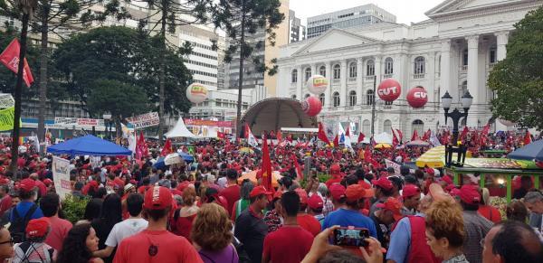 Festa do 1º de maio do ano passado feita pela CUT em Curitiba