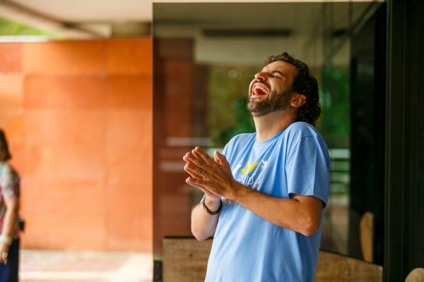 Gustavo Arns, facilitador do curso de Felicidade da Universidade Positivo