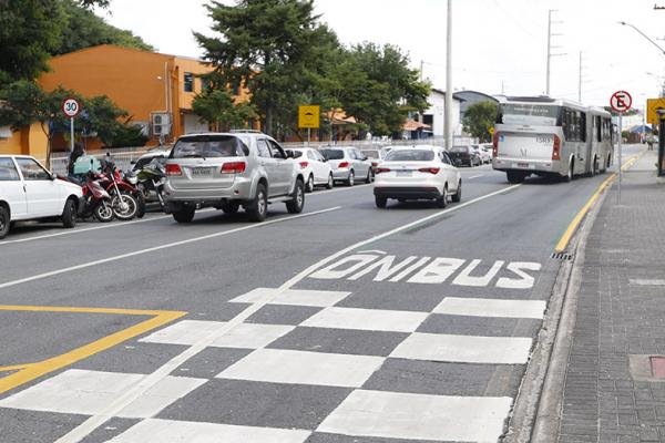 Nova faixa exclusiva da Rua Imaculada Conceição