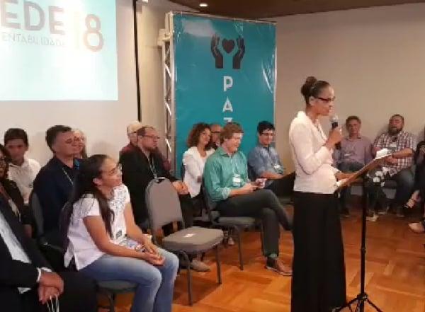 Rede lança Marina Silva como pré-candidata à Presidência em 2018