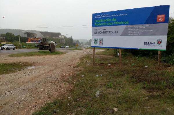 Rodovia dos Minérios: pista esquerda sobre a ponte do Rio Barigui, um pouco antes do Contorno Norte de Curitiba será interditada