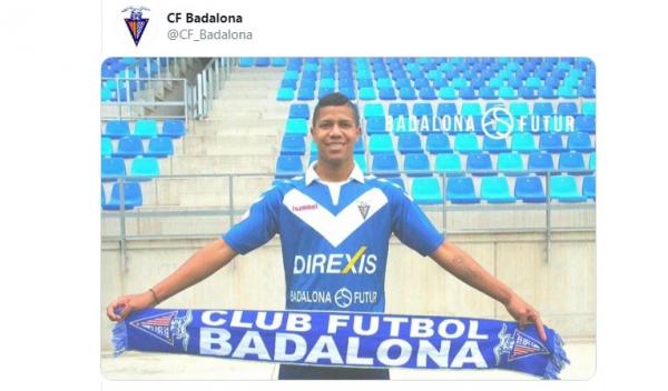 Alvarado é apresentado pelo Badalona, da terceira divisão da Espanha