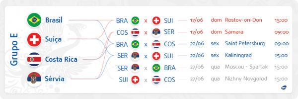 Veja Os Horarios No Brasil De Todos Os Jogos Da Copa De  Tem Partida As  Horas