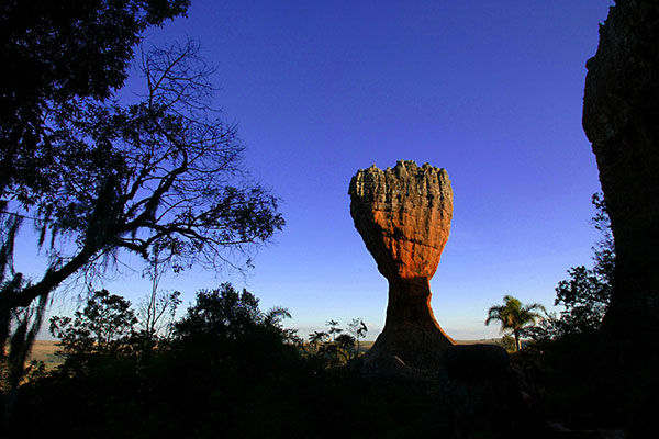 Vista do parque de Vila Velha, em Ponta Grossa: a 95 km de Curitiba