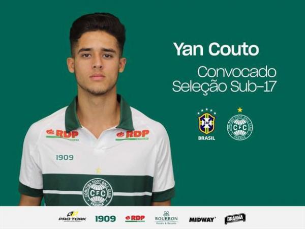 Yan Couto: lateral foi convocado para o Sul-Americano Sub-17