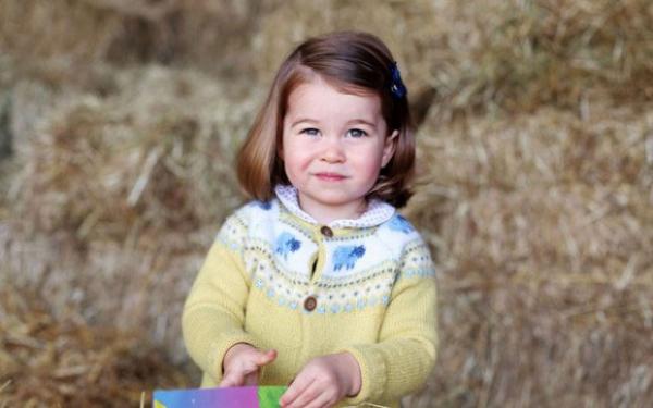 Família real britânica divulga nova foto da princesa Charlotte