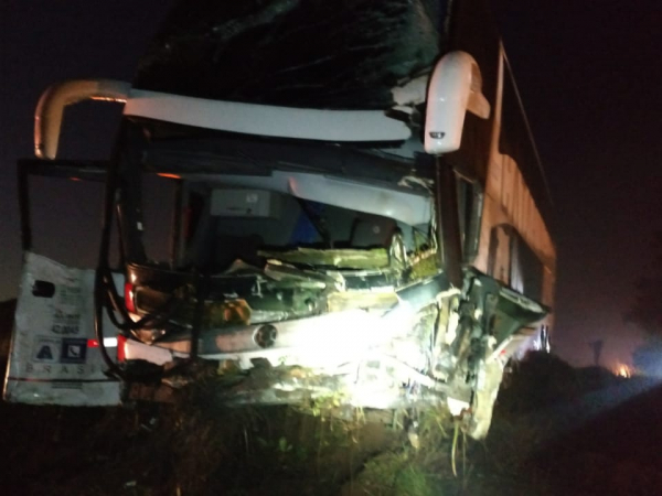 Acidente com ônibus na BR-373 no começo do ano, deixou 4 feridos graves