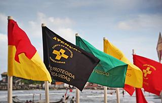 São seis as bandeiras de sinalização