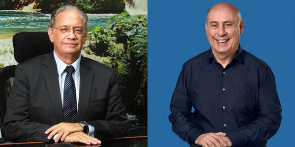 Carlos Walter Martins Pedro (esquerda) e Eugenio Souza de Bueno Gizzi (direita): situação VS oposição
