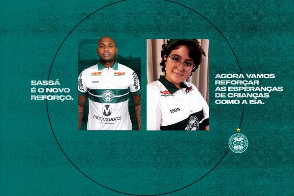 A imagem utilizada pelo Coritiba para fazer a apresentação oficial de Sassá