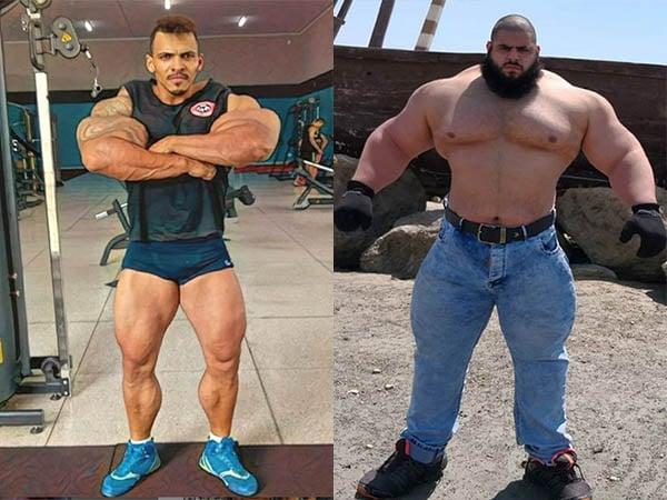 O brasileiro Romário e o iraniano Gharibi: dois Hulks