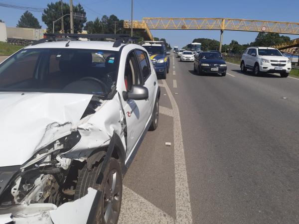 Acidente no km 71 da BR-277, na manhã dessa sexta-feira