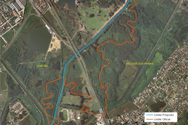 Comec apresentou uma proposta que estabelece um novo limite territorial entre os municípios de São José dos Pinhais e Curitiba
