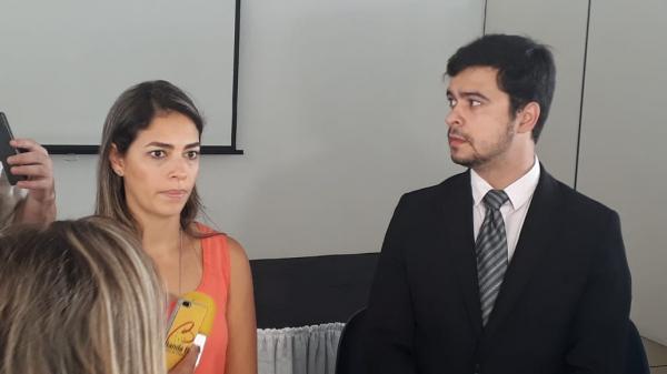 Ellen Victer e José Barreto, delegados do Nucria