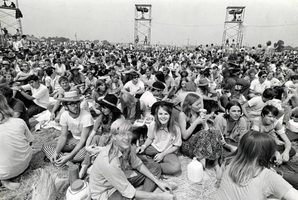 O festival de Woodstock, maior exemplo da efervescência cultural de 1969.
