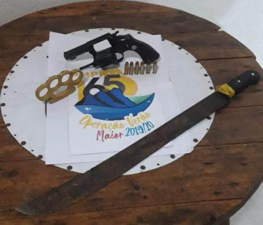 As armas apreendidas