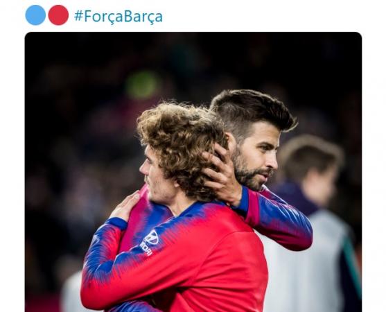 Twitter do Barcelona anuncia a contratação de Griezmann