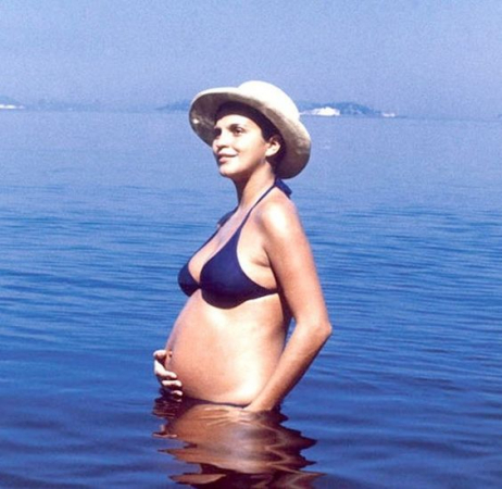 Leila Diniz grávida, linda e atrevida