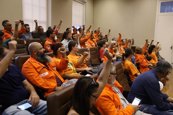 Empregados da ANSA acompanharam a audiência