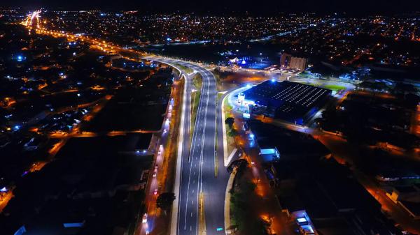 No final do ano passado, já foi liberado o tráfego no viaduto da BR-277 em Foz do Iguaçu