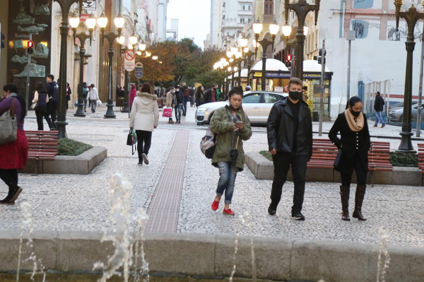 Curitiba tem previsão de tardes frias até o final de semana