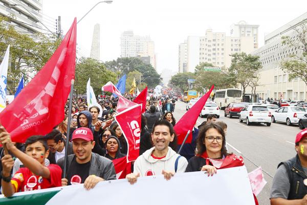 Manifestação contra a reforma da Previdência em maio deste ano