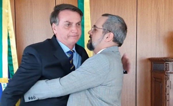 Jair Bolsonaro e o ex-ministro Abraham Weintraub