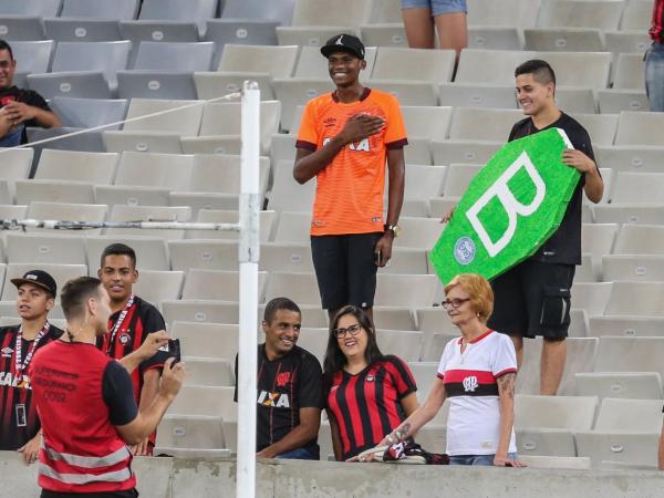Torcida do Athletico na Arena da Baixada, na última quarta-feira, no clássico com o Coritiba