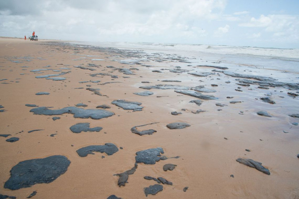 Avaliações indicam que o óleo teria se deslocado da região sul do mar da África, em abril, até chegar à costa brasileira, em setembro.