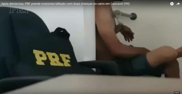 O homem preso pela PRF