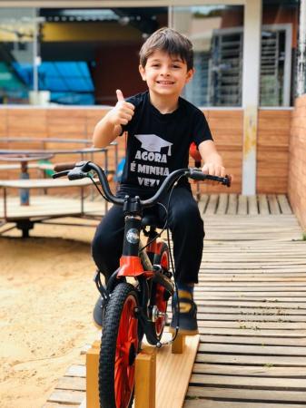 Samuel, 6 anos, criador do projeto