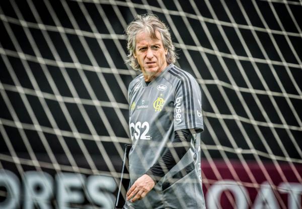 O técnico do Flamengo, Jorge Jesus