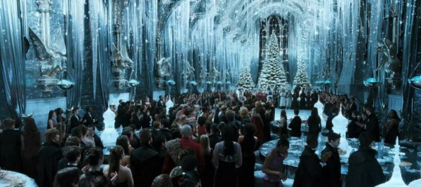 """Baile do Torneio Tribuxo, que aparece no quarto livro da saga """"Harry Potter"""""""