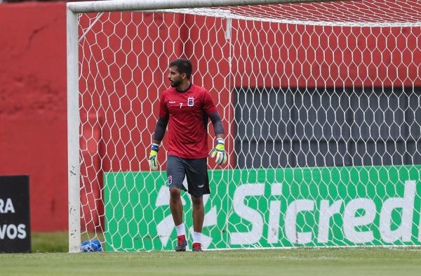 O goleiro Alisson: titular contra o Figueirense
