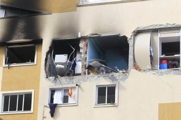 Explosão aconteceu na manhã de um sábado no Água Verde