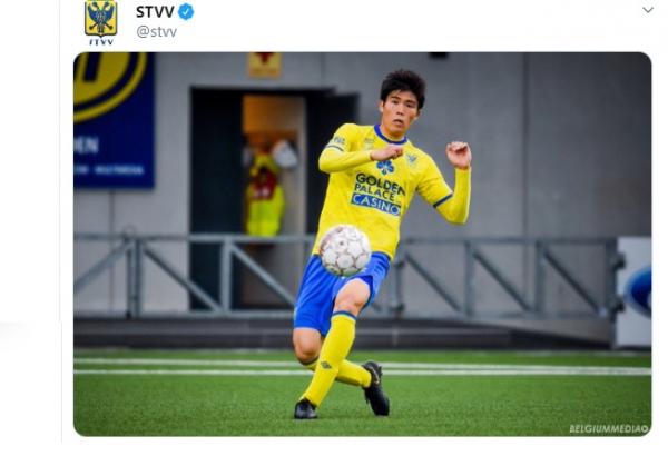 O japonês Tomiyasu: vendido por 9 milhões de euros pelo Sint-Truidense