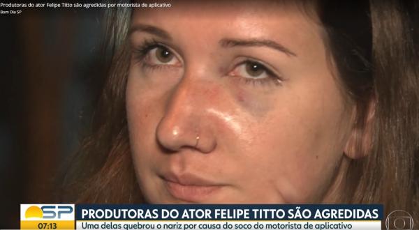 Funcionário de Titto agredida por motorista de aplicativo