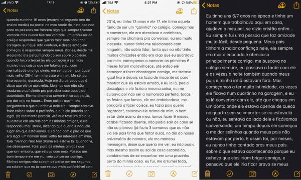 Exemplos de postagens dentro da campanha #exposedcuritiba