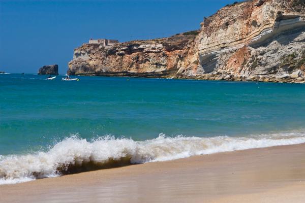 Praia da Nazaré, em Portugal.