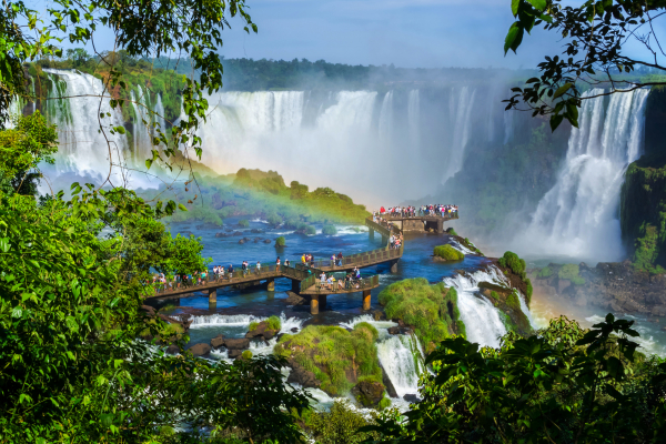 Vista das Cataratas do Iguaçu.