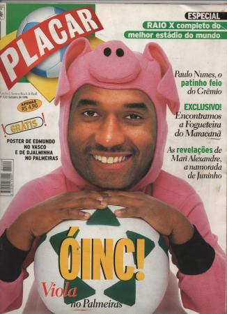 Viola na capa da revista Placar: jogador polêmico