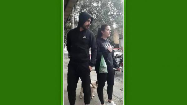 Bruno Henrique e a esposa, em vídeo divulgado em setembro, com discussão com torcedores