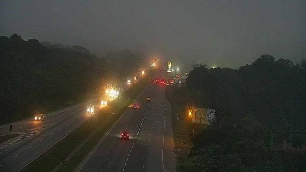 Nevoeiro na região de Paranaguá cobriu a BR-277, no sábado