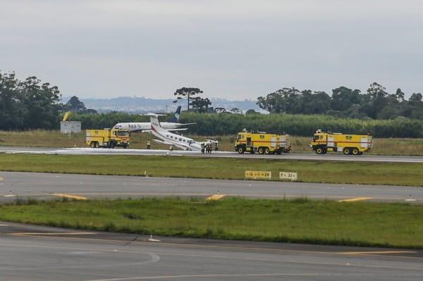 Pouso de emergência no Aeroporto Afonso Pena